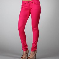 Fuchsia Skinny Stretch Pants