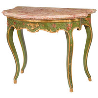 1STDIBS.COM - George Subkoff Antiques, Inc. - Venetian marble top painted console