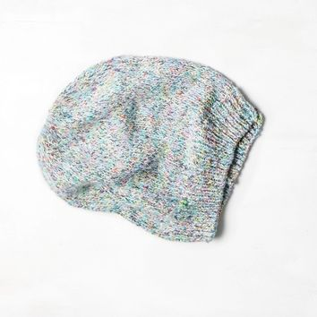 AEO Slouchy Marled Beanie Blue  American Eagle Outfitters