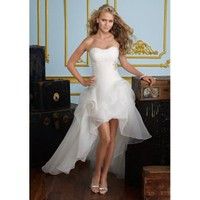 Organza Sweetheart A-Line Gown Chapel Train 2012 Strap Wedding Dress - Basadress.com