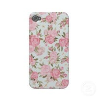 Floral Vintage Case Case-mate Iphone 4 Case from Zazzle.com