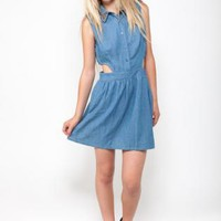 Jean Cut Out Dress