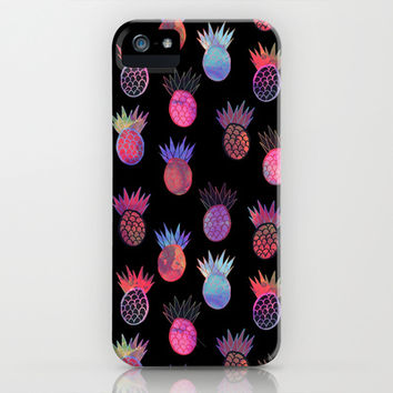 Tutti Frutti Black iPhone & iPod Case by Schatzi Brown