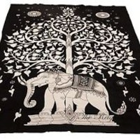 Indian Tree Mandala Wall Hanging Tapestry Throw Bedspread Ethnic Decor Art