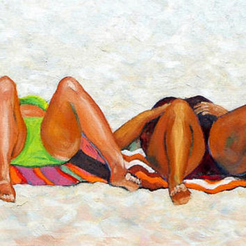 Beach Bunnies Art By Betty Cummings