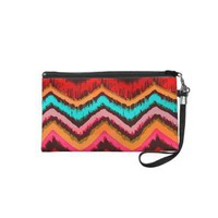 Aztec Zig Zag Tribal Inspired Fashion Pattern Wristlet Purse from Zazzle.com