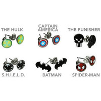 ThinkGeek :: Superhero Earrings
