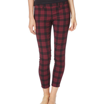 City Crop Plaid Pant