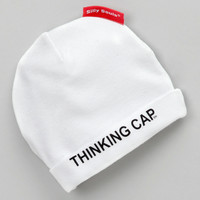 White 'Thinking Cap' Beanie | zulily