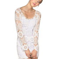 Birkin Sixties White Lace Dress