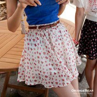 Chiffon skirt skirts attached to the belt large size | fashion4us