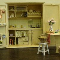 Miniature Tuscan style kitchen cabinet 112 scale by bagusitaly