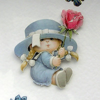 Sunday Best - Hand-Crafted 3D Decoupage Card - Blank for any Occasion (1726)