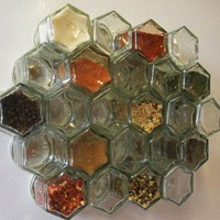 24 MAGNETIZED GLASS JARS 15 oz Perfect for by RainyThursday