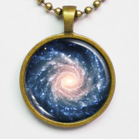 Spiral Galaxy Necklace - Grand Spiral Galaxy by FantasticDIY
