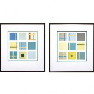 Phoenix Galleries Apreggio III and IV Framed Print Set - N1178 / N1179 - Decor