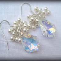Bridal Baroque Swarovski Crystal Dangle by FlirtyCajunJewels