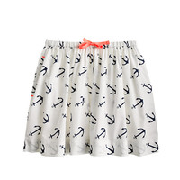 GIRLS' ANCHOR PRINT SKIRT