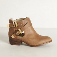 Cross-Buckle Booties