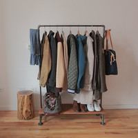 ArtisanMade Rustic / Industrial Clothing Rack by BrooklynArtisans