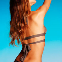 Vitamin A Gold 2012: Sleek & Chic Separates Swimwear Siren Wrap Top 015T, Supermodel 21B