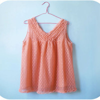 Vintage babydoll peach babydoll mad men style by PoVintage on Etsy