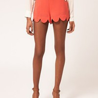 Lipsy | Lipsy Scallop Edge Short at ASOS