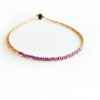 Metallic chic golden purple anklet