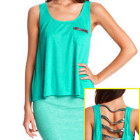 Charlotte Russe - Strappy Sequin Pocket Top