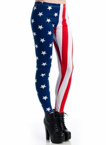 american flag leggings $13.30 in REDBLUE - American Dream | GoJane.com