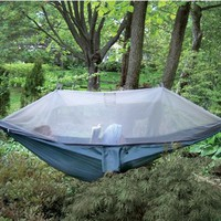 The Netted Cocoon Hammock - Hammacher Schlemmer