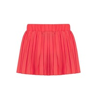 Coral Mini Skirt - Coral Pleated Mini Skirt | UsTrendy