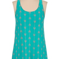 Arrow print racerback tank