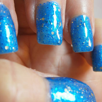 Luminol Nail Lacquer Forensic Blue by WonderBeautyProducts