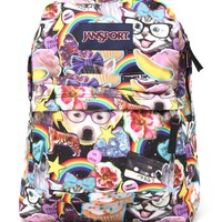 JanSport Super Break Hair Ball School Backpack - Womens Backpack - Multi - One