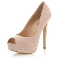Sassy Nude Peep Toe Court - Miss Selfridge