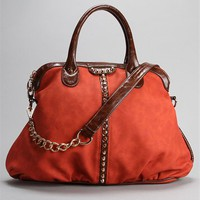 Studded Color Block Dome Bag