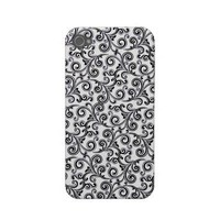 iphone4-4s black and white swirls iphone 4 case from Zazzle.com