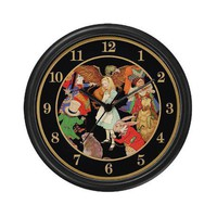 A ROUND ALICE Wall Clock by WONDERLAND_SHOP- 290420770