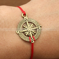 Adjustable compass bracelet vintage compass bracelet by luckyvicky