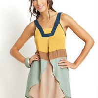 ideeli | BLU PEPPER Sleeveless Colorblock Dress