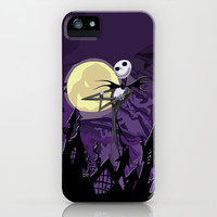 Halloween Purple Sky with jack skellington apple iPhone 3, 4 4s, 5 5s 5c, iPod & samsung galaxy s4 case cover