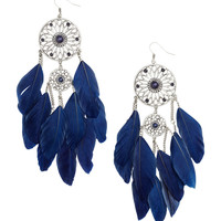 H&M - Earrings with Feathers - Silver - Ladies