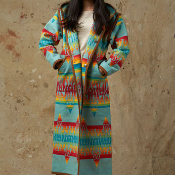 Native American Jacket, Reversible Long Coat, Coyoacán, Pendleton® Coat