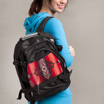 Pendleton ® Wool Fabric Back Pack Evening Star Black