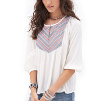 Tribal-Inspired Peasant Top