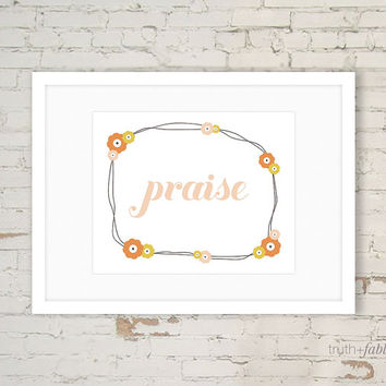 Praise Wreath DIY Art Print