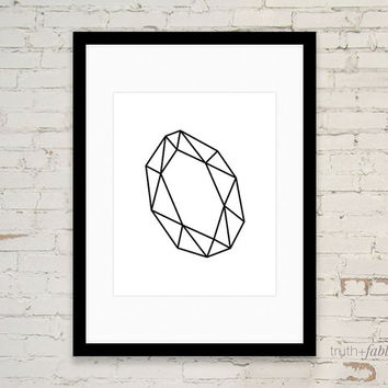 Geometric Gem DIY Art Print