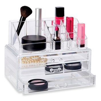 Richards Homewares Clear 19 Compartment Cosmetic Organizer
