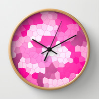 Purple and Pink Glass Wall Clock by Kat Mun